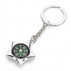 Unique Compass Style Zinc Alloy Keychain (Star Frame)
