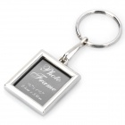 Photo Frame Style Zinc Alloy Keychain - Silver