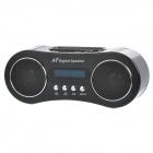 "1.4"" LED Docking Station MP3 Music Speaker w/ FM / 3.5mm Audio / USB / TF for iPhone / iPod - Black"