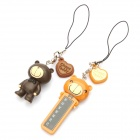 Choco Teddy Style ABS Temperature Sensor Pendant with Strap - Brown