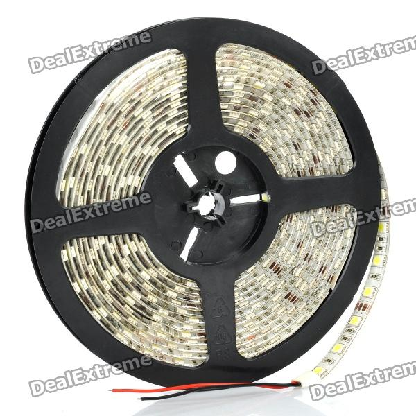 72W 6700K 300x5050 SMD LED White Light Flexible Strip (DC 12V / 5M-Length) zdm waterproof 72w 200lm 470nm 300 smd 5050 led blue light strip white grey dc 12v 5m