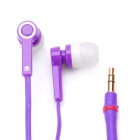 Designer's In-Ear Earphone for iPod - Purple (3.5mm-Plug / 120cm-Cable)