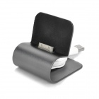 Retractable USB 2.0 Charging Cable w/ Stand for iPhone 4 - Iron Grey