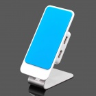 Stylish USB 4-Port HUB With Rotatable Mobile Holder - Blue