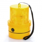 8-LED Flashing Yellow Light Caution Warning Lamp with Magnetic Mount Holder & Strap (2 x R20)