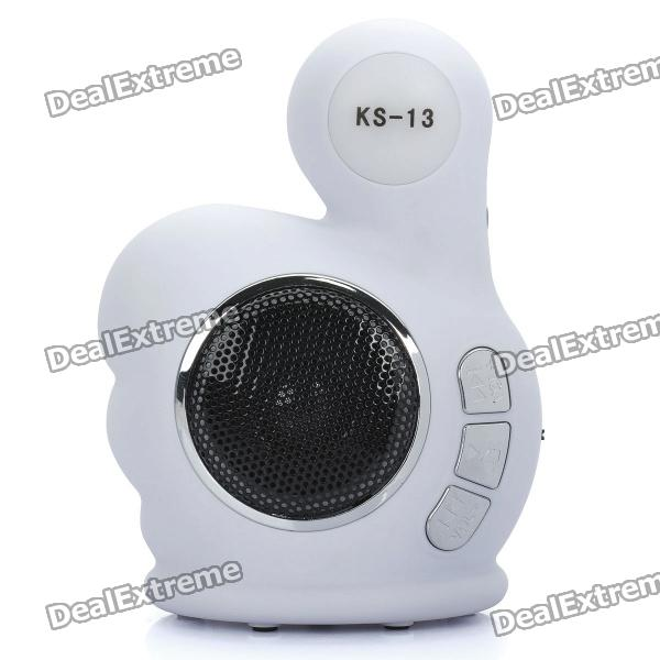Fashion Thumb Stil MP3-Player Speaker w / FM / TF / USB - Schwarz