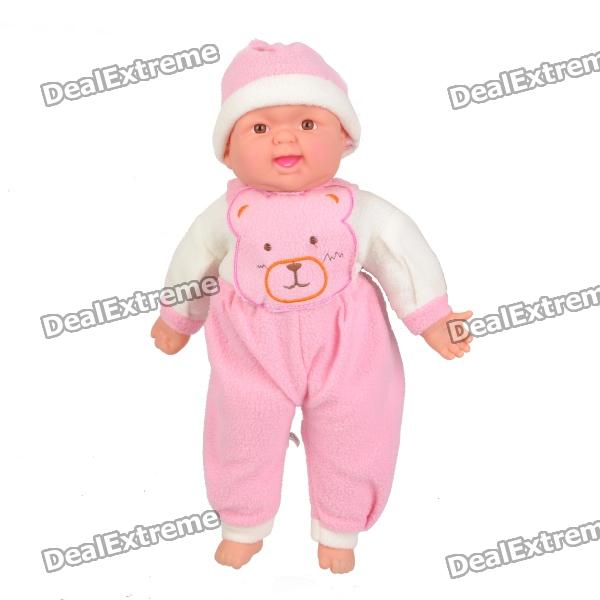 Cute Baby Style Laughter Plush Doll Toy - Coffee + White + Pink от DX.com INT