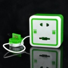 Creative Wall Socket Style Coin Bank with White Light - Green + White (2 x AG13)