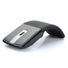Designer's Wireless 2.4GHz Folding Optical Mouse - Black (1 x AAA)