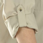 Men's Quick-Dry Fabric Long Sleeves Shirt - Beige (Size- L)