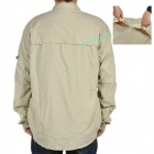 Men's Quick-Dry Fabric Long Sleeves Shirt - Beige (Size- XXL)