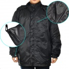 Men's Waterproof Nylon Fabric Outdoor Jacket - Black (Size-L)