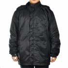 Men's Waterproof Nylon Fabric Outdoor Jacket - Black (Size-XXL)