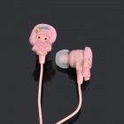Cute Cartoon Style In-Ear Stereo Earphone - Pink (3.5mm Jack / 1M-Cable)