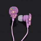 Cute Cartoon Style In-Ear Stereo Earphone - Purple (3.5mm Jack / 1M-Cable)