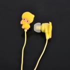 Cute Cartoon Style In-Ear-Stereo-Kopfhörer - Gelb (3,5 mm Klinke / 1M-Kabel)