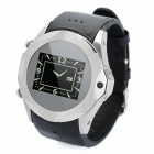 "S730 Touch Watch GSM Phone w/ 1.3"" Screen, Dual SIM, Quadband, FM and Camera - Black + Silver (4GB)"
