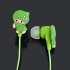 Cute Cartoon Style In-Ear Stereo Earphone - Green (3.5mm Jack / 1M-Cable)
