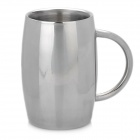 High Quality Stainless Steel Beer Double Wall Mug - Silver (400ml)
