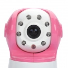 "2.4GHz Wireless 8-LED Night Vision Cameras with 1.8"" LCD Handheld Baby Monitor - Pink (2-Cameras)"