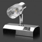 1W 100LM 2900-3500K Warm White 1-LED Light Lamp - Silver (AC 100-250V)