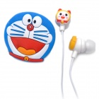 Cute Doraemon Style In-ear Stereo Earphone with Microphone for iPhone