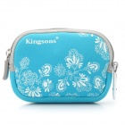 Protective Camera Carry Bag with Carabiner Clip - Blue + White