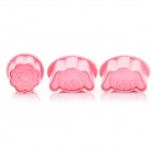 Cute Dog Style 3D Plastic Cookie Cutter Set (3-Piece Pack)
