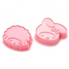 Cute Girl Style 3D Cookie Cutter Set (2-Piece Pack)
