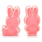 Cute Cartoon Rabbit Style 3D Plastic Cookie Cutter Set (2-Piece Pack)