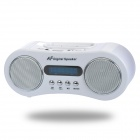 "1.4"" LED Docking Station MP3 Music Speaker w/ FM / 3.5mm Audio / USB / TF for iPhone / iPod - White"