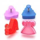 Dress-Up Style Cookies Crust Pastry Cutters (Set of 4)