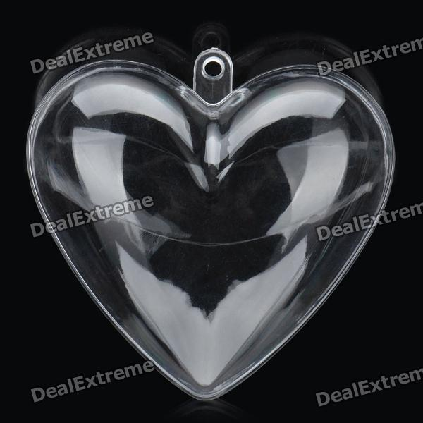 Mini Transparent Plastic Heart Decoration Box