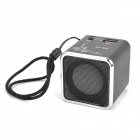 "1.0"" LED Mini Rechargeable MP3 Player Speaker w/ FM / USB / Line In / TF - Black"