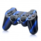 Designer's Rechargeable Bluetooth Wireless DoubleShock SIXAXIS Controller for PS3 - Blue + Black