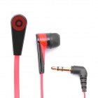 Designer's Stylish In-Ear Earphone - Black + Red (3.5mm-Plug / 120cm-Cable)