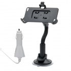 Plastic Car Swivel Mount Holder with Car Charger for iPhone 4S (DC 12~24V)