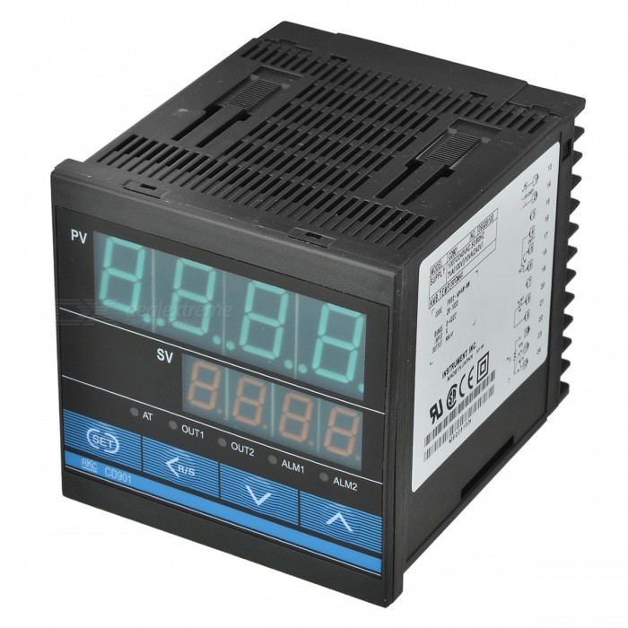 CD901 Intelligent Temperature Controller xmt 800 pv sv digits display alarm ssr controller temperature control meter m6 k type 2m thermocouple ssr 25da
