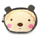 Lovely Bear Style Cotton Mini Dual-Zipper Cellphone Changes Bag / Purse