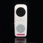 Tragbare wiederaufladbare MP3 Music Speaker w / TF / 3,5 mm Audio Jack - Pink + White