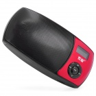 "0.9"" LED MP3 Music Speaker w/ USB / TF / Dual 3.5mm Jacks - Red"