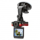P6000 1.3MP Wide Angle Car DVR Camcorder w/ TF / 2-LED / Motion Detection - Red (2.0