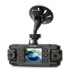 DM800 480P Dual Lens 2-CH Vehicle Car Digital DVR Camcorder w/ G-Sensor / TF / AV-Out (2.0