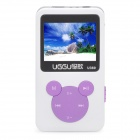 "1.4"" LCD Rechargeable MP3 Player - White + Purple (4GB)"