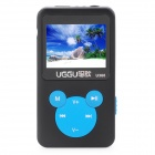 "1.4"" LCD Rechargeable MP3 Player - Black + Blue (4GB)"
