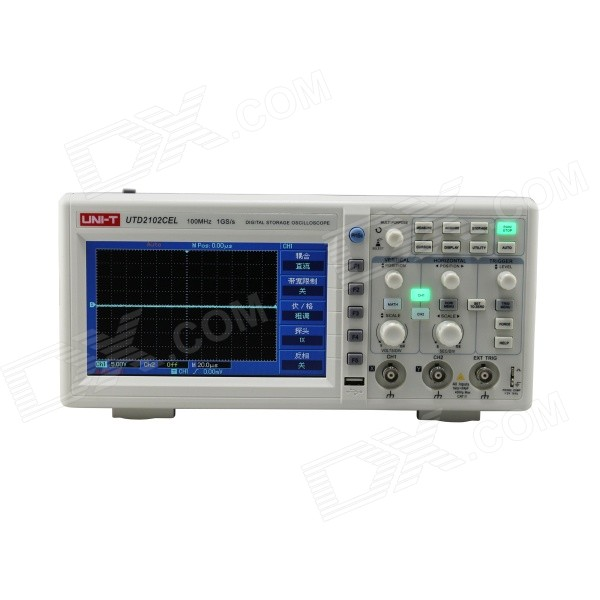 UNI-T UTD2102CEL 7.0 LCD 100MHz Digital Oscilloscope usb 50m dual channel 100m sampling rate digital virtual oscilloscope