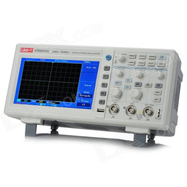 UNI-T UTD2052CL 7.0 LCD 50MHz Digital Oscilloscope usb 50m dual channel 100m sampling rate digital virtual oscilloscope