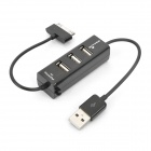 USB 2.0 3-Port HUB for iPhone Charger - Black