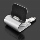 USB Charging Docking Station for iPhone 4 - Silver