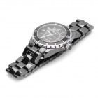 Genuine MIRUS M8005 Men's Quartz Wrist Watch w/ Ceramic Band / Sapphire Crystal - Black (1 x LR626)